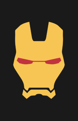 Minimalist design of Marvel's Iron Man helmet (Marvel NOW!) by Minimalist Heroes