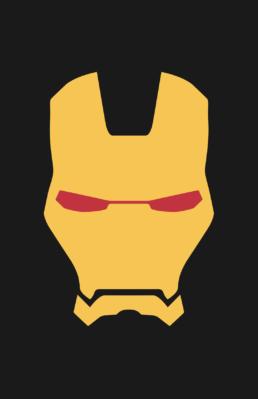 Minimalist design of Marvel's Iron Man helmet (Marvel NOW!) by Minimalist Heroes