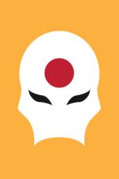 Minimalist design of Marvel's Sunfire mask (Age of Apocalypse) by Minimalist Heroes
